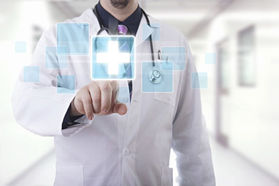 image of doctor explaining employee benefits