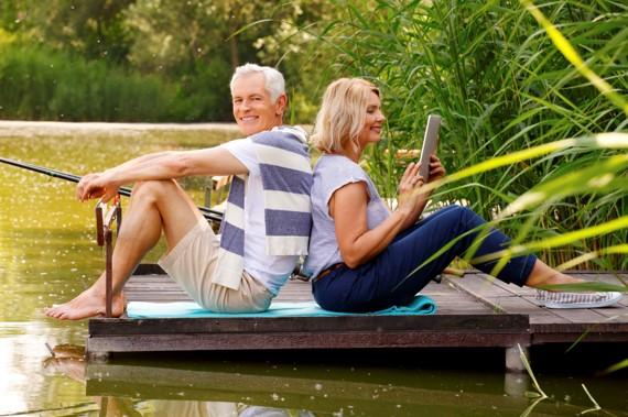older couple on dock