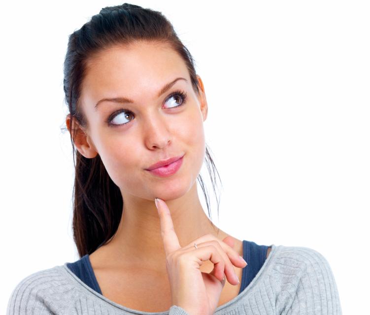 image of girl thinking